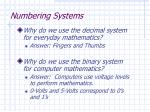 numbering systems1