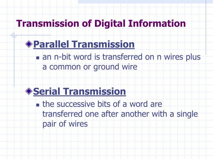 Transmission of Digital Information