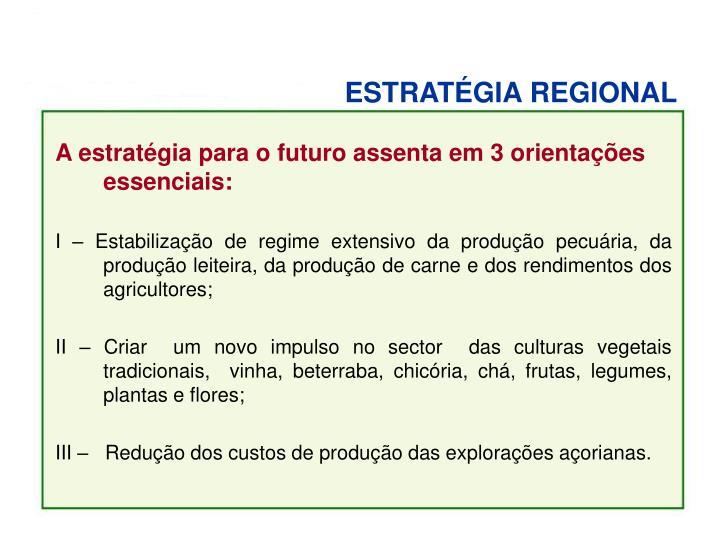 ESTRATÉGIA REGIONAL