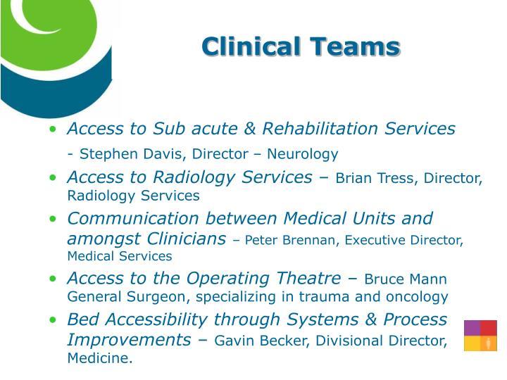 Clinical Teams