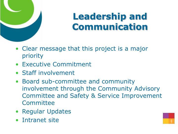 Leadership and