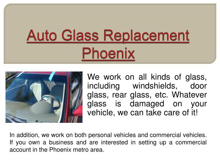Auto glass replacement phoenix