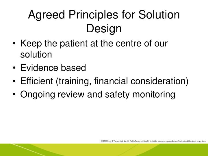 Agreed Principles for Solution Design
