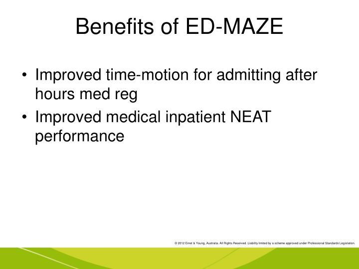 Benefits of ED-MAZE
