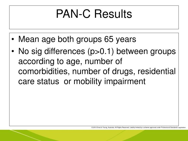PAN-C Results