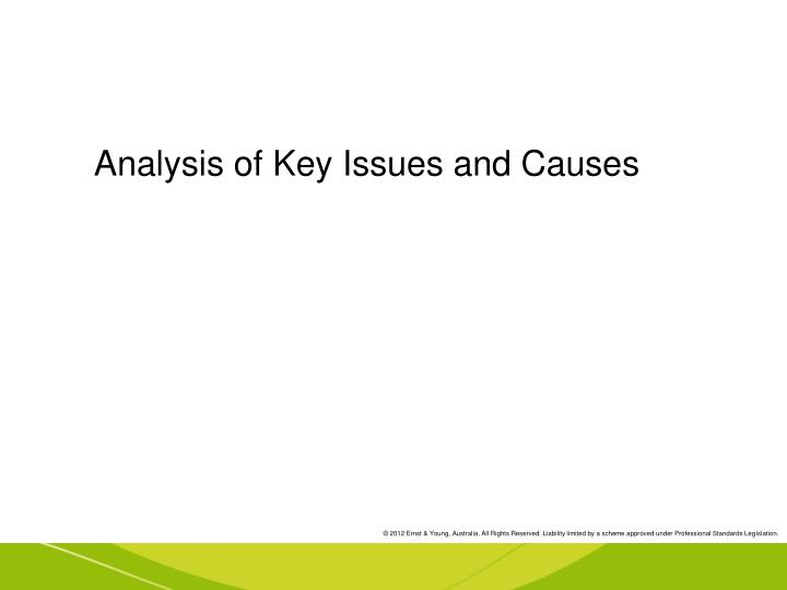 Analysis of Key Issues and Causes