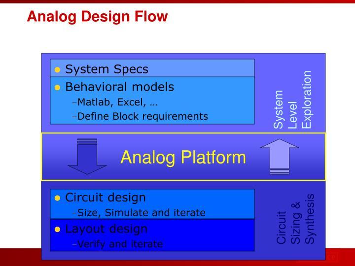 Analog Design Flow