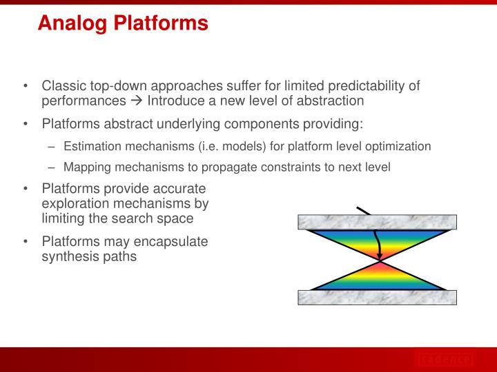 Analog Platforms