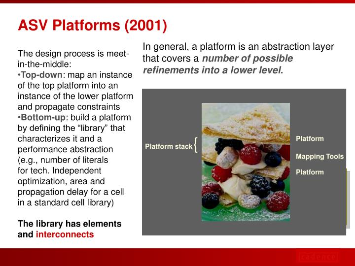 In general, a platform is an abstraction layer that covers a
