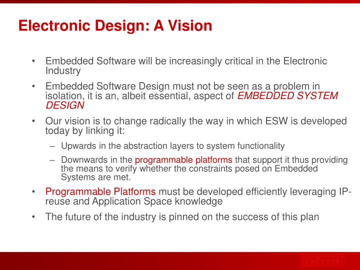 Electronic Design: A Vision