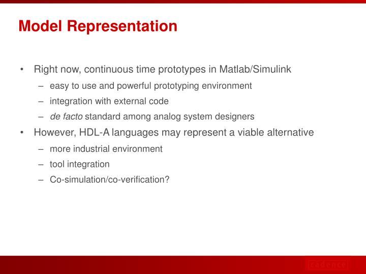 Model Representation