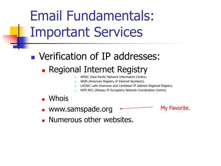 Email Fundamentals:
