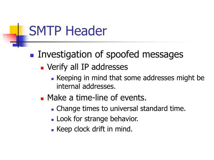 SMTP Header