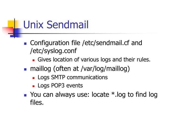 Unix Sendmail