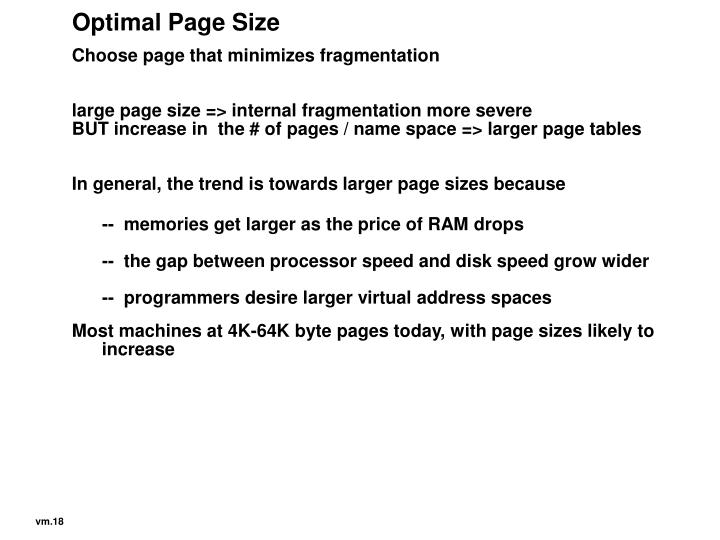 Optimal Page Size