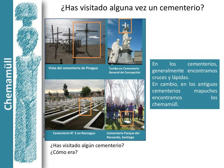 ¿Has visitado alguna vez un cementerio?
