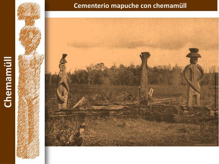 Cementerio mapuche con chemamüll