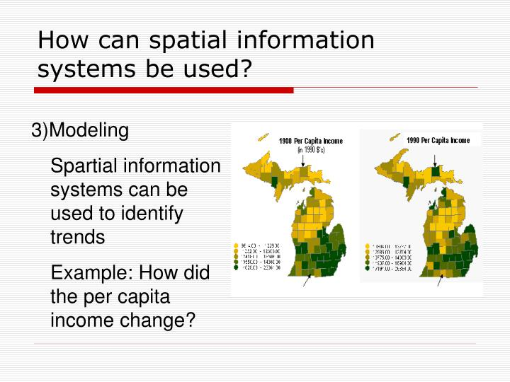 How can spatial information systems be used?