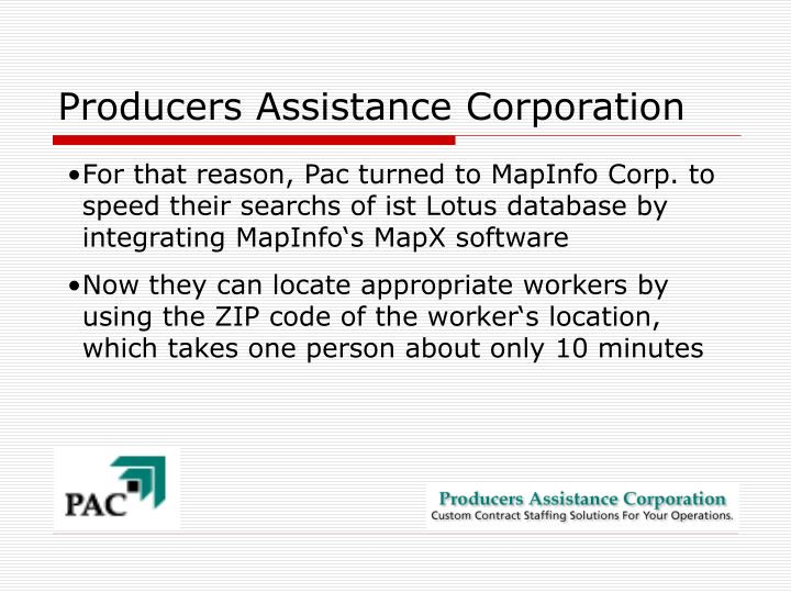 Producers Assistance Corporation