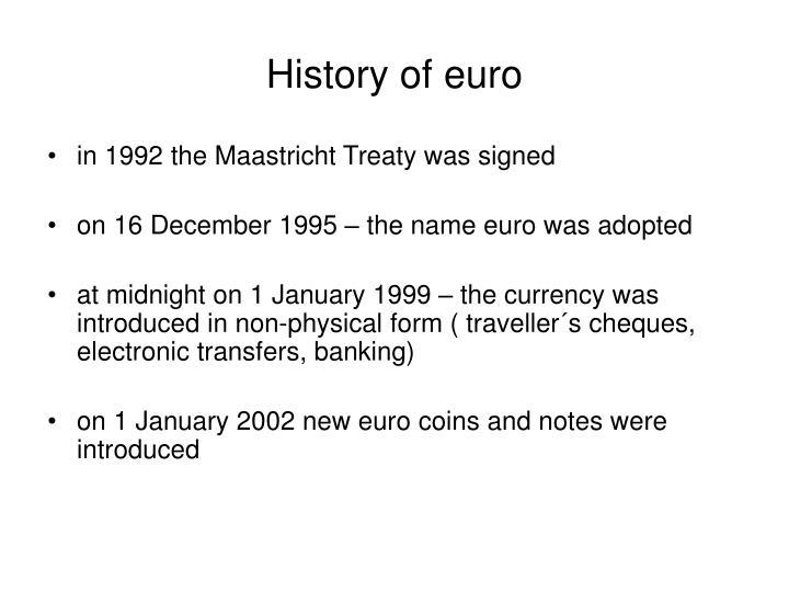 History of euro