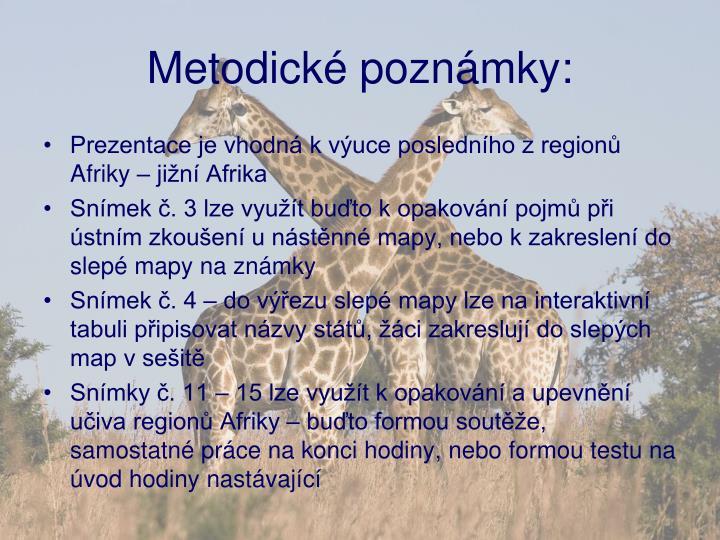 Metodické poznámky: