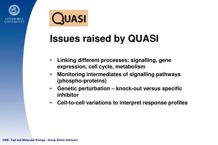 Issues raised by QUASI