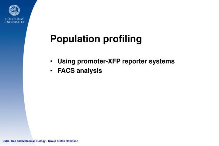 Population profiling