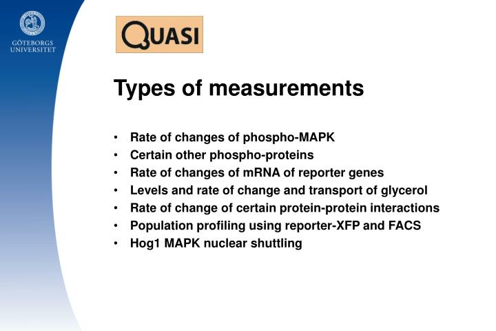 Types of measurements