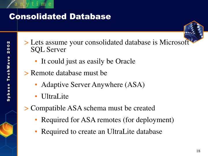 Consolidated Database
