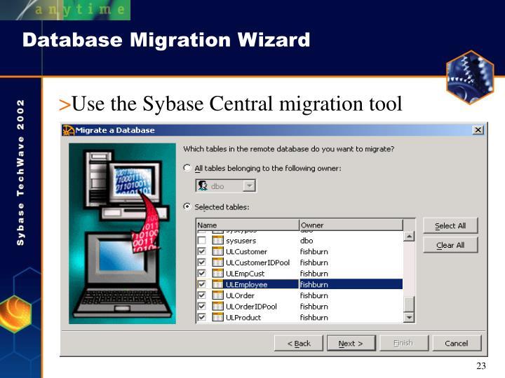 Database Migration Wizard