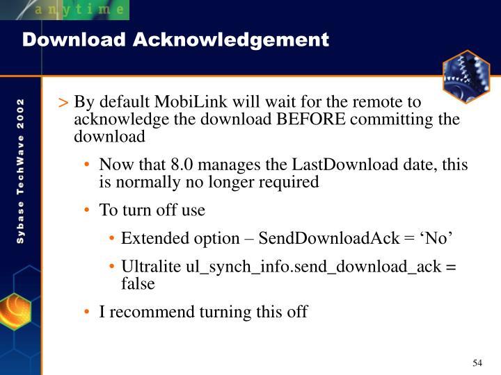 Download Acknowledgement