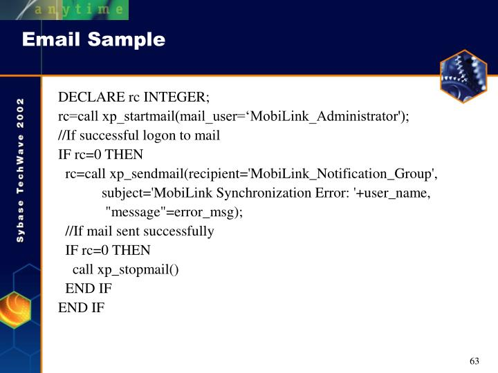 Email Sample