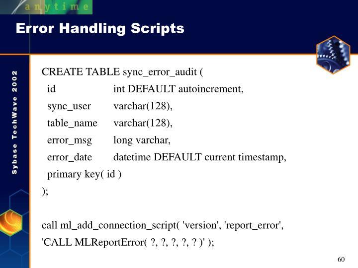 Error Handling Scripts