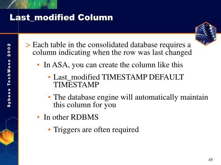 Last_modified Column
