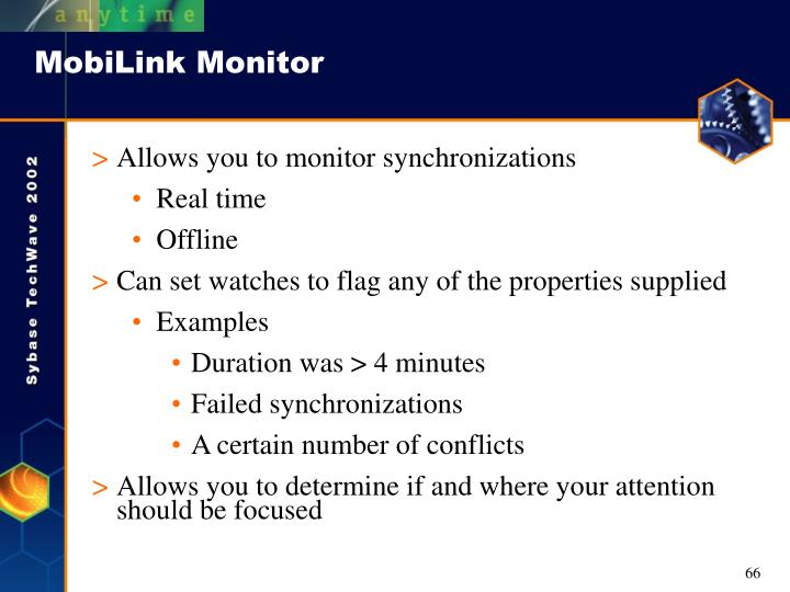 MobiLink Monitor
