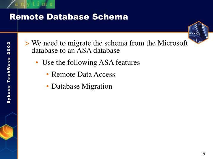 Remote Database Schema