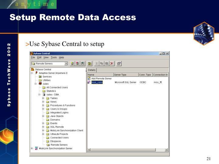 Setup Remote Data Access