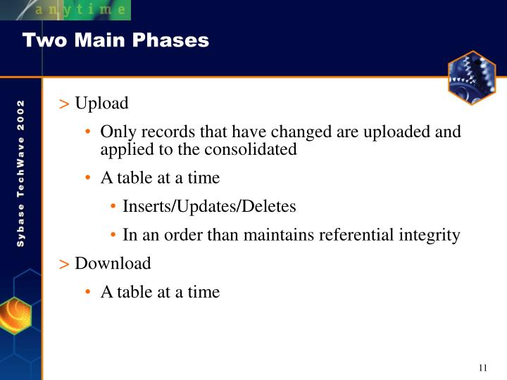 Two Main Phases
