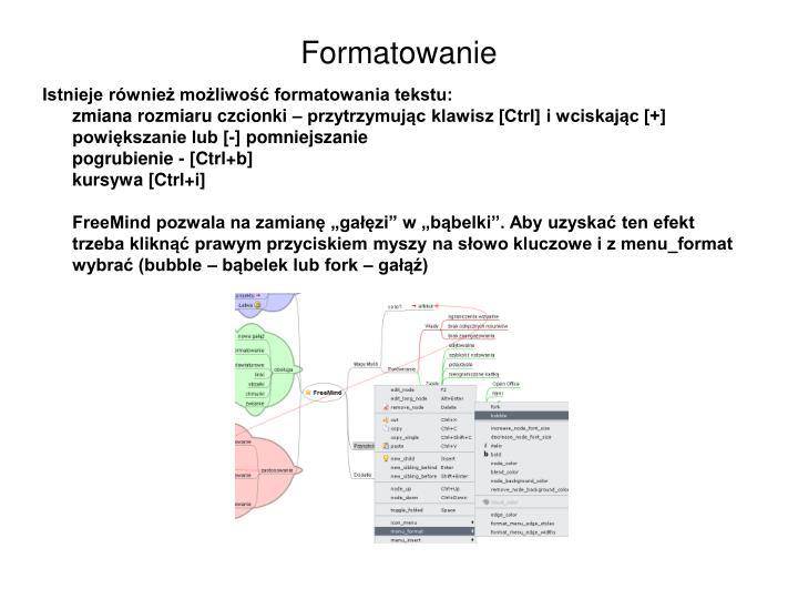 Formatowanie