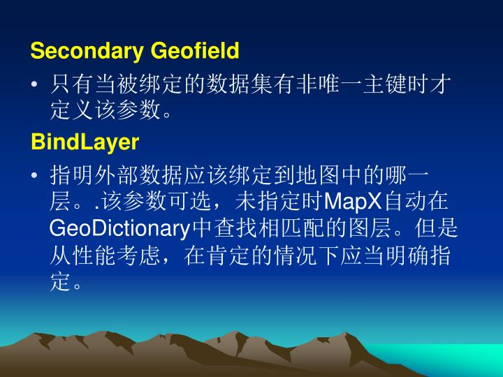 Secondary Geofield