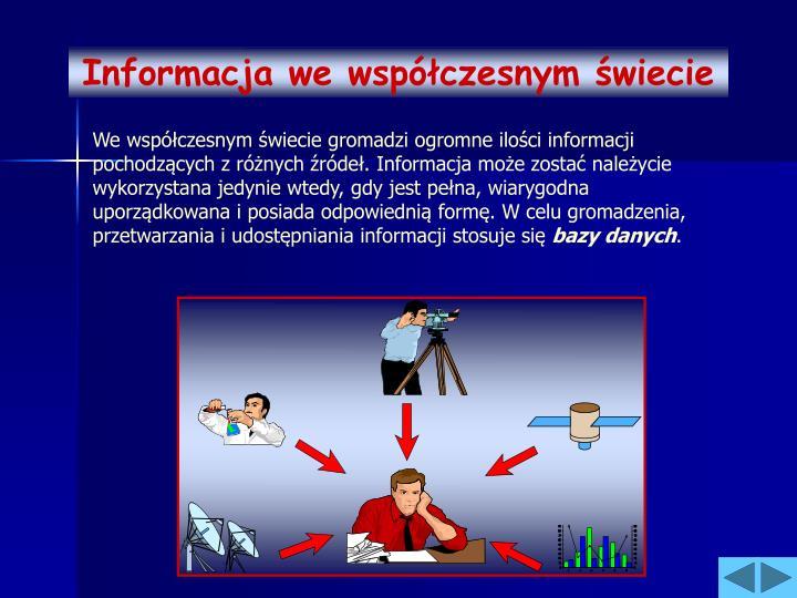 Informacja we współczesnym świecie