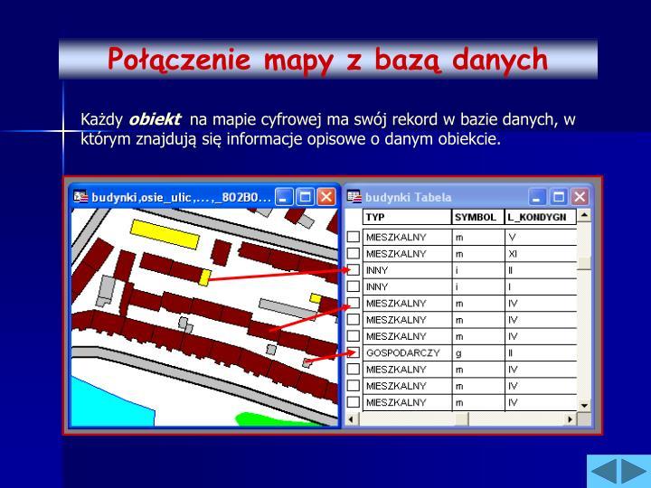 Połączenie mapy z bazą danych