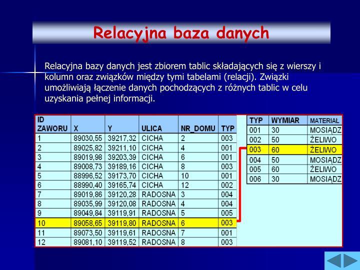 Relacyjna baza danych