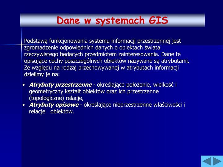 Dane w systemach GIS