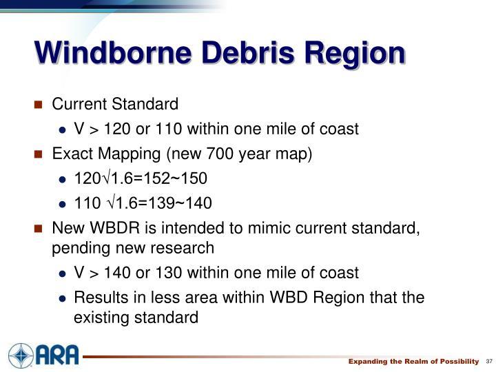 Windborne Debris Region