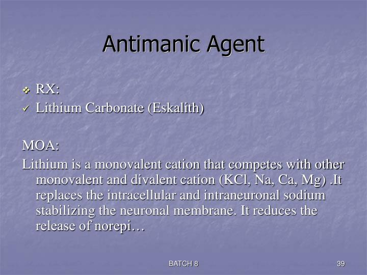 Antimanic Agent