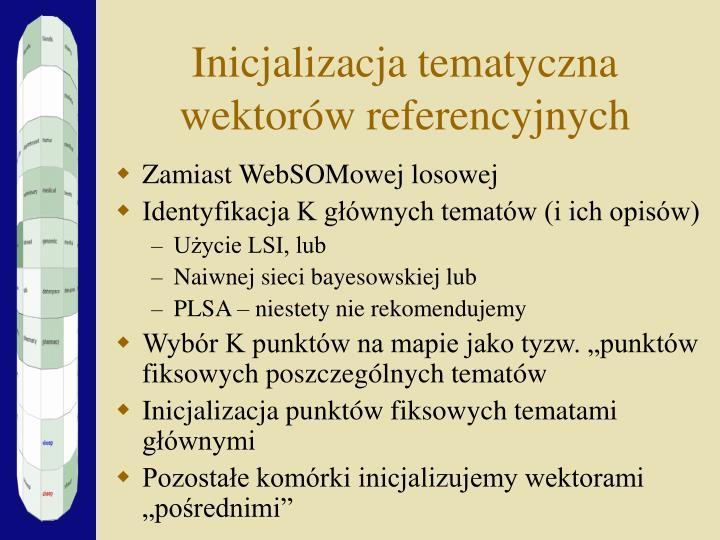 Inicjalizacja tematyczna wektorów referencyjnych