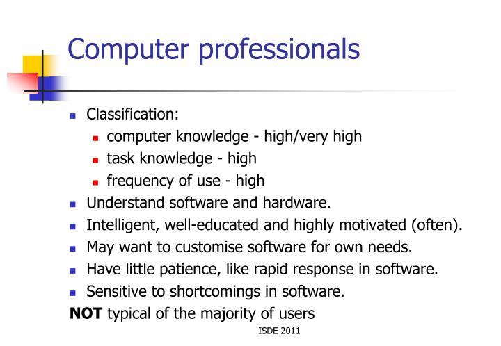 Computer professionals