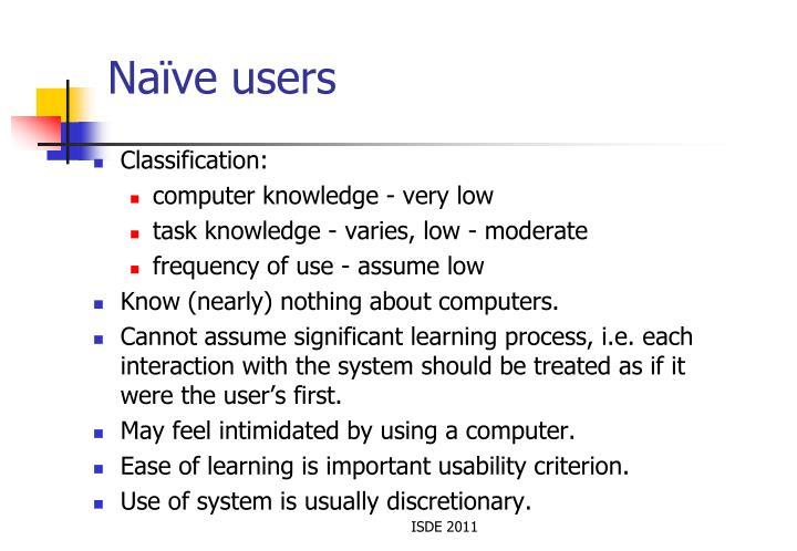 Naïve users
