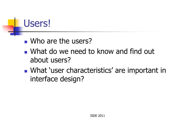 Users!